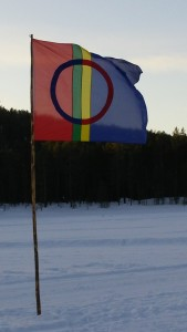 Sami Flag in Jokkmokk, Sweden